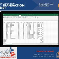 Fishbowl Accounting Sales Transaction Export Report