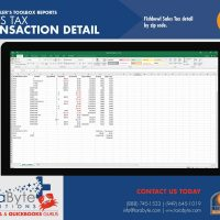 Fishbowl Accounting Sales Tax Transaction Detail Report