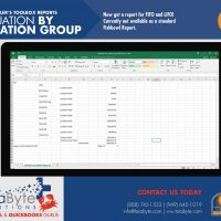Fishbowl Accounting Valuation by Location Group Report