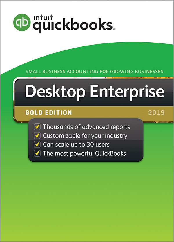 Intuit QuickBooks Enterprise Gold Monthly Subscription 2019