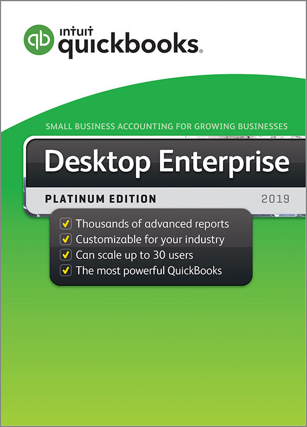 Intuit QuickBooks Enterprise Platinum Annual Subscription 2019